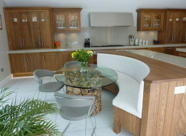 Dark Oak Shaker Style Kitchen, Mereworth, Kent